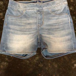 Adjustable stretch denim old navy shorts